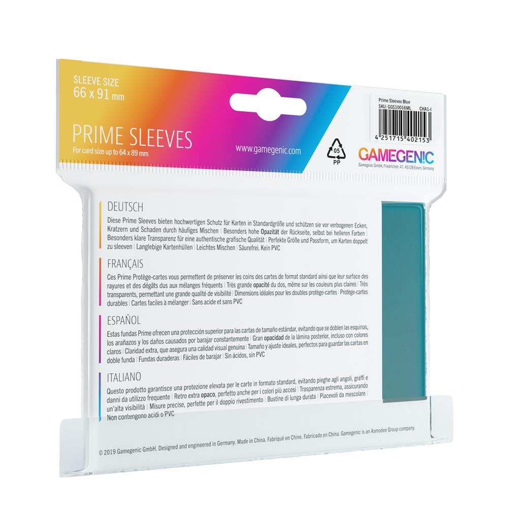 Pack Prime Sleeves Blue (100)
